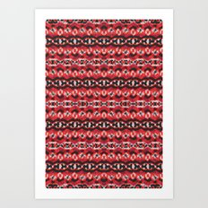 Montana Stripe - Cherry Art Print