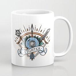 Fighter - Vintage D&D Tattoo Coffee Mug