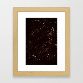 Spring black pink Framed Art Print