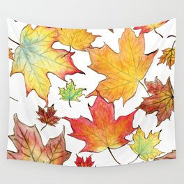 Autumn Maple Leaves Wall Tapestry