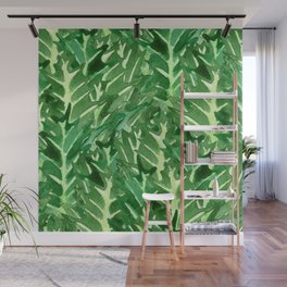 Holly Jolly Leaves (Large Pattern) Wall Mural
