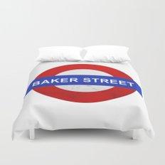 Sherlock Baker Street Print Duvet Cover