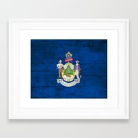 maine Framed Art Prints featuring Maine by C Liza B