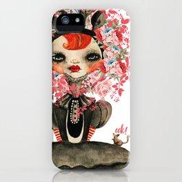 Deerlilah the Rose Lion iPhone Case