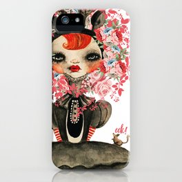 Deerlilah the Rose Lion iPhone Case