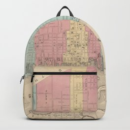 Vintage Map of New Bedford MA (1887) Backpack