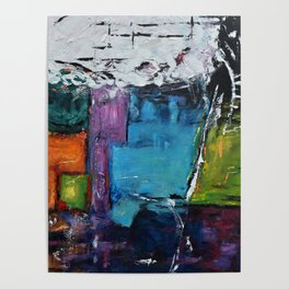 TETRIS, Abstract  Acrylic Painting, colorful mosaic Poster