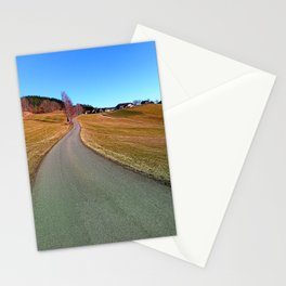 Country road through rural scenery | landscape photography Stationery Cards