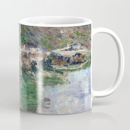 1880-Claude Monet-View of Vétheuil-65 x 81 Coffee Mug