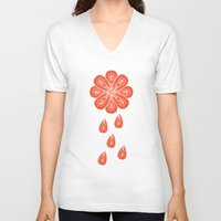 henna V-neck T-shirts featuring Henna Shower by Neela