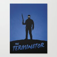 terminator Canvas Prints featuring Terminator by Nick Kemp