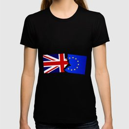 EU and Great Britain Flags T-shirt