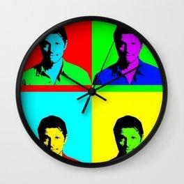 Misha Collins Pop Art Wall Clock