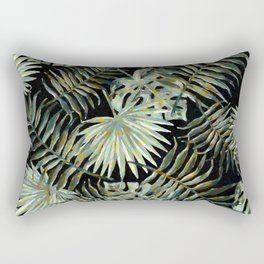 Jungle Dark Tropical Leaves #decor #society6 #pattern #style Rectangular Pillow