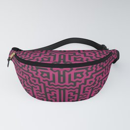 Bold tribal motif in plum and black Fanny Pack