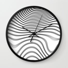 Organic Abstract 02 WHITE Wall Clock
