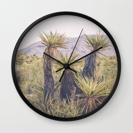 Morning in Joshua Tree Wall Clock