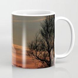 Kansas Sunset with an Oil Well pump silhouette Coffee Mug