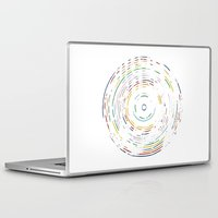 record Laptop & iPad Skins featuring Rainbow Record by Project M