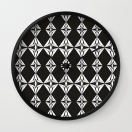 Abstract black and white Wall Clock