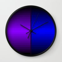 gradient Wall Clocks featuring Gradient by AbbyGrace