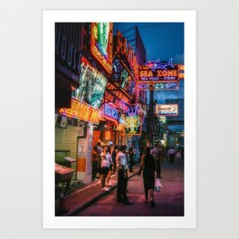 Walking Street Art Print