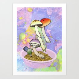 Druggy Charms Art Print
