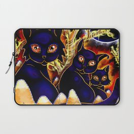 Three Halloween Cats Laptop Sleeve