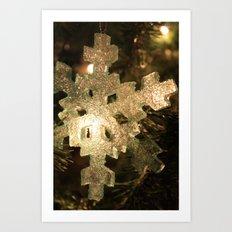 Sparkling Snowflake Art Print