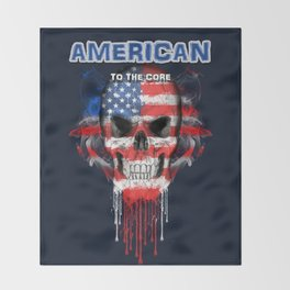 To The Core Collection: USA Throw Blanket