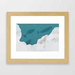 Polar Bears & Narwhals Framed Art Print