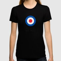 In Mod We Trust SMALL Womens Fitted Tee Black