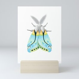 Blue Moth Mini Art Print