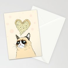 Grumpy Pizza Love Stationery Cards