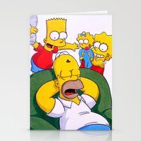 simpsons Stationery Cards featuring Simpsons by Brian David