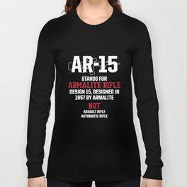 Patriotic Ar15 V5 M 0019 Ar 15 Stands For Armalite Hanes Veteran T-Shirts Long Sleeve T-shirt