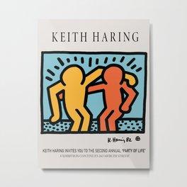 BROTHERHOOD - Keith Art, Exhibition Poster, Japan Vintage Print Metal Print
