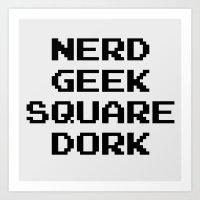 nerd Art Prints featuring Nerd by EmeraldSora