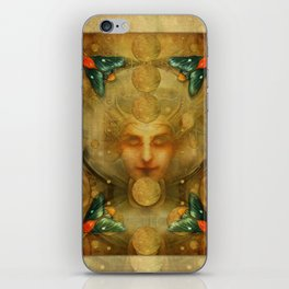 """Art Deco II The Chimera (Moth)"" iPhone Skin"