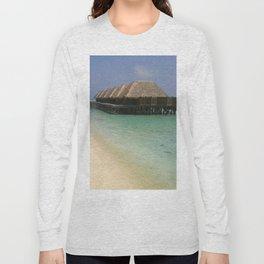 Stilt Houses - Maldives Long Sleeve T-shirt