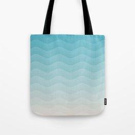 Deeb blue sea waves Tote Bag