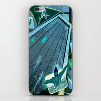 swimming iPhone & iPod Skins featuring Swimming by Robin Curtiss