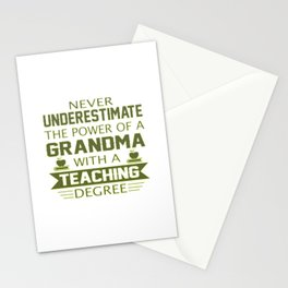 Grandma Teacher Stationery Cards