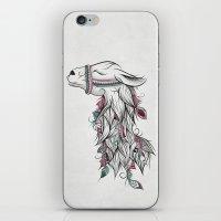 llama iPhone & iPod Skins featuring Llama by LouJah