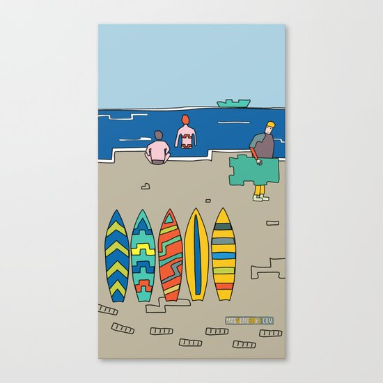 Afternoon at the beach (c) Canvas Print