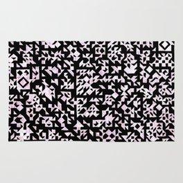 Inverted Black and White Randomness Rug