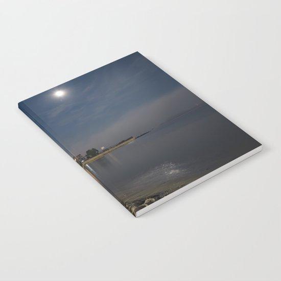 Foggy Moonlit Beach Notebook