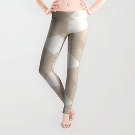 Pantone Hazelnut, Tan Argyle Plaid, Diamond Pattern Leggings