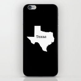 Texas State outline  iPhone Skin