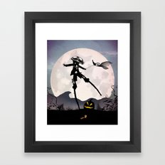 Jack Skellington Kid Framed Art Print
